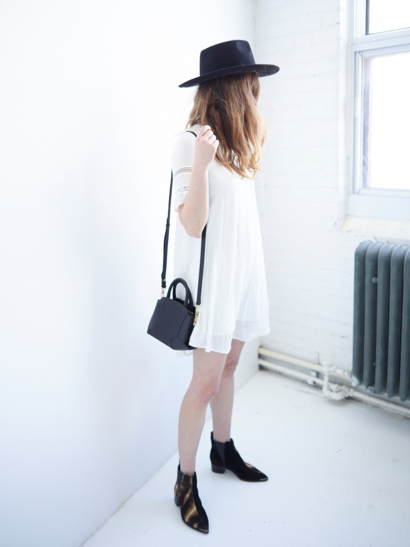 dentellefleurs wear bega bag and white silk dress