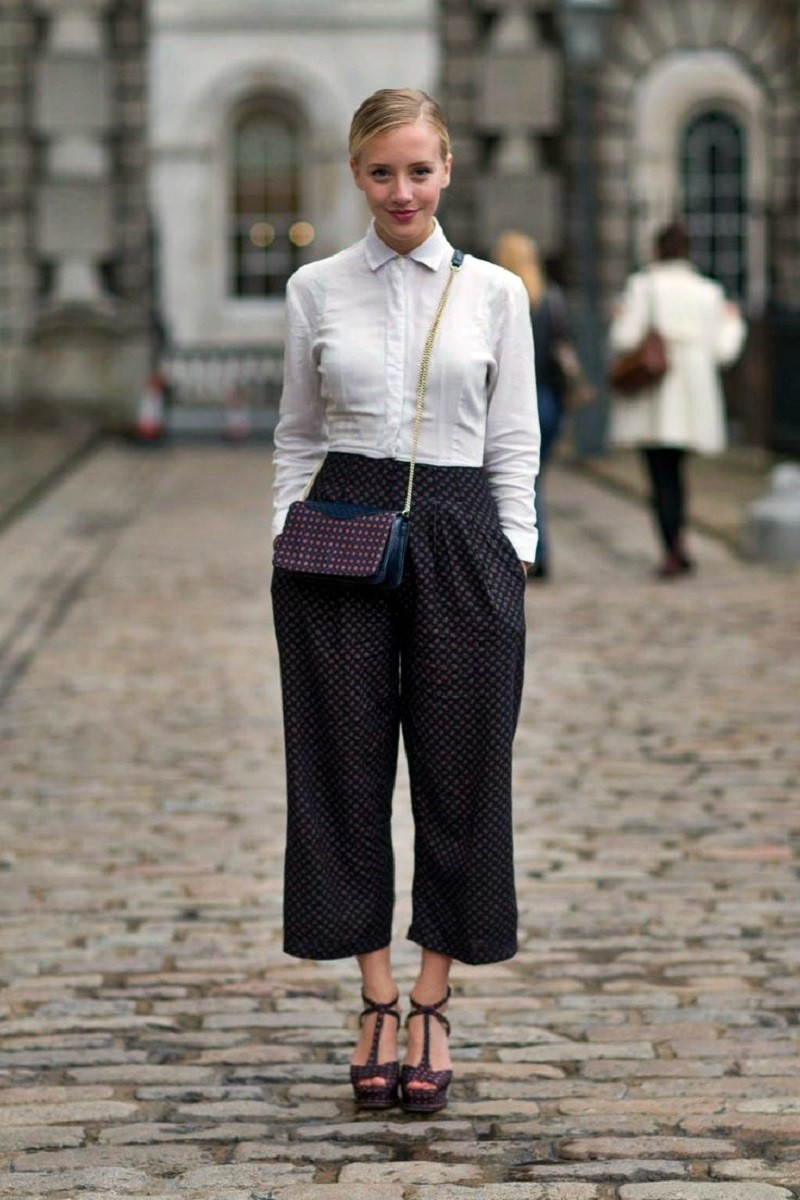 platforms and polkadot culottes