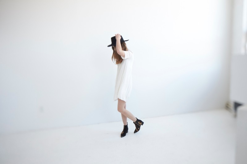 white aritzia dress for spring