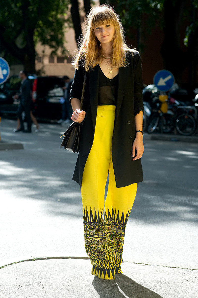 yellow pants trend ideas look summer spring 2015