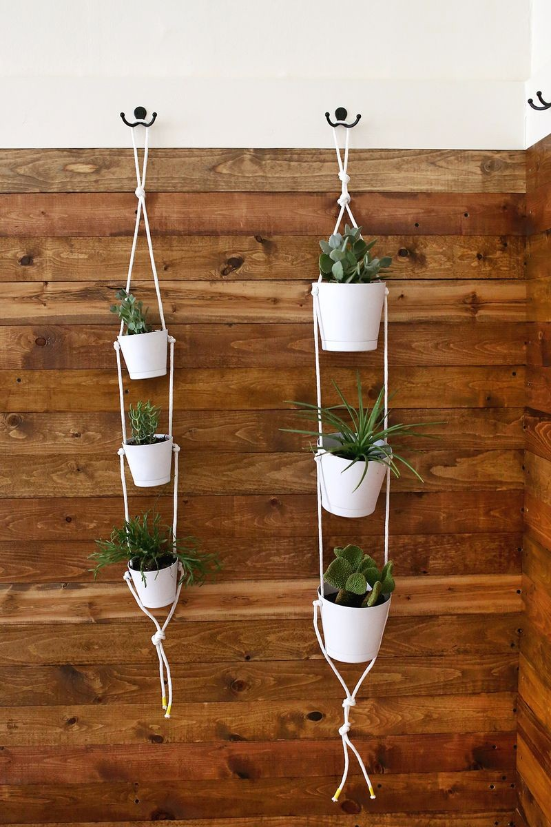Indoor rope planter
