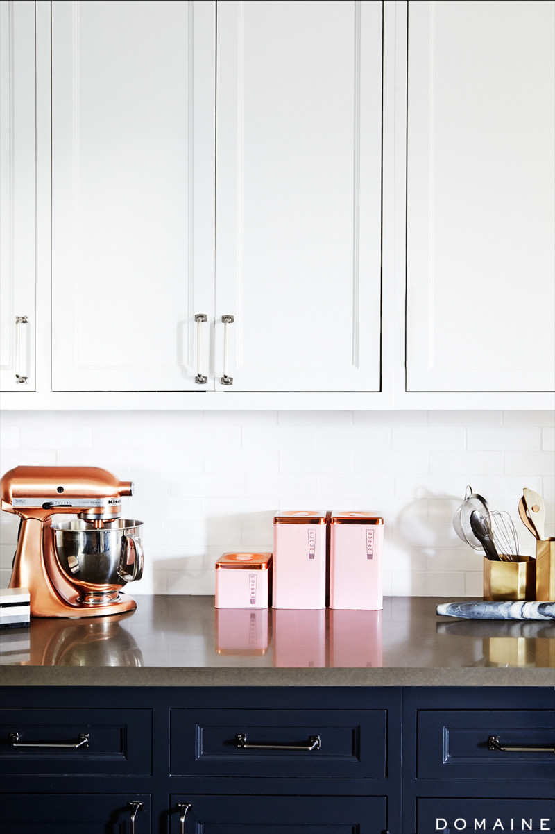 Rose gold kitchen
