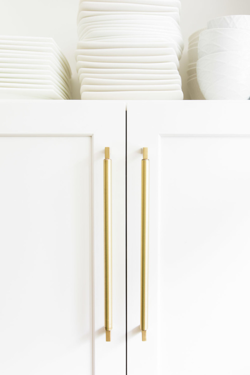 gold kitchen handles