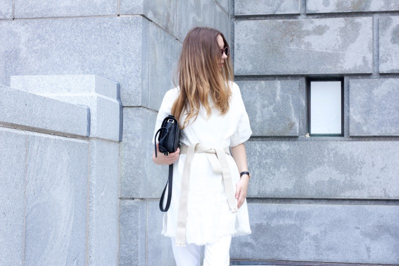 all white outfit 3.1 phillip lim bag