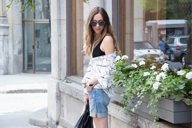 marble shirt over shoulders