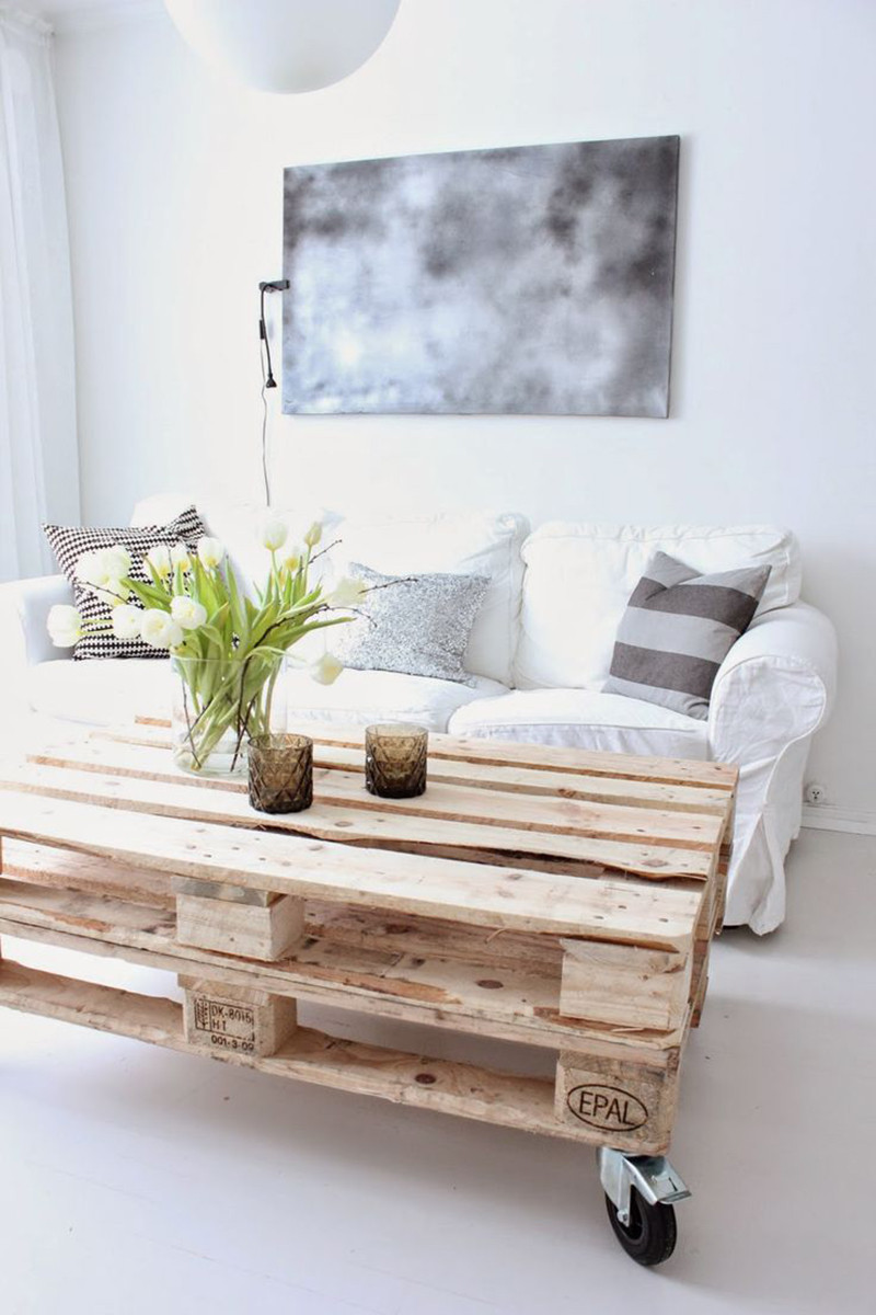 How about using some wood planks on your home decor