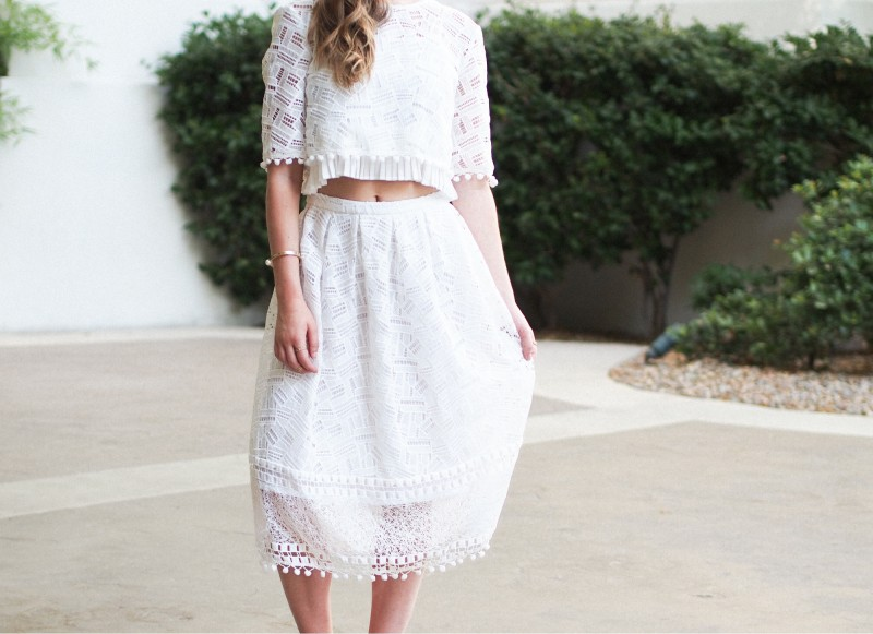 two piece outfit lace