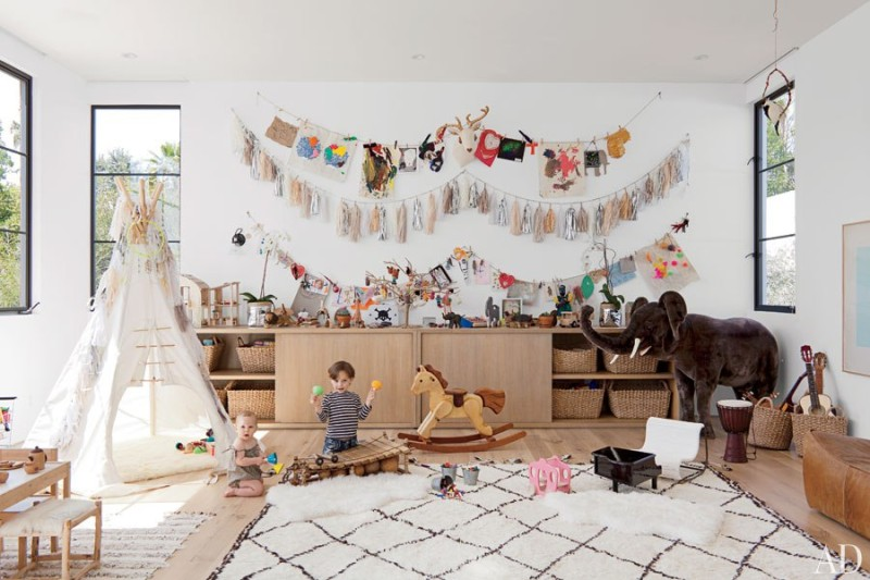 stylish playroom