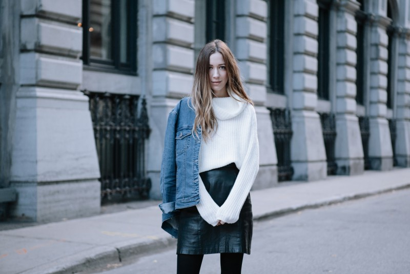 whiteturtleneck layering