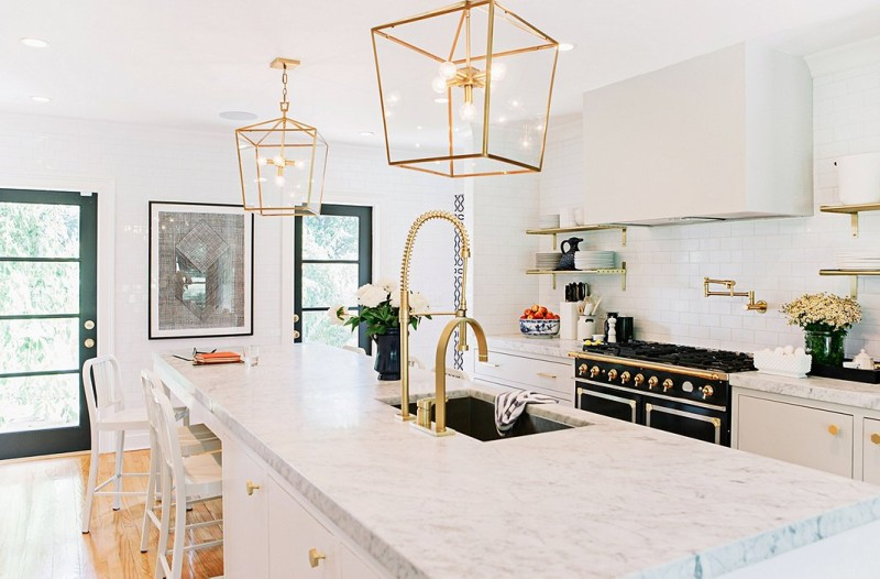 kitchen gold accents