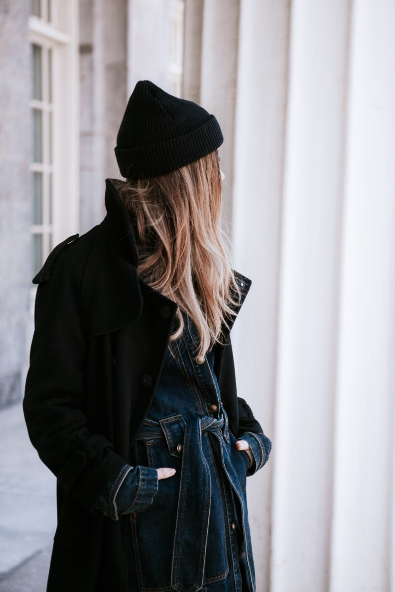 free people denim trench