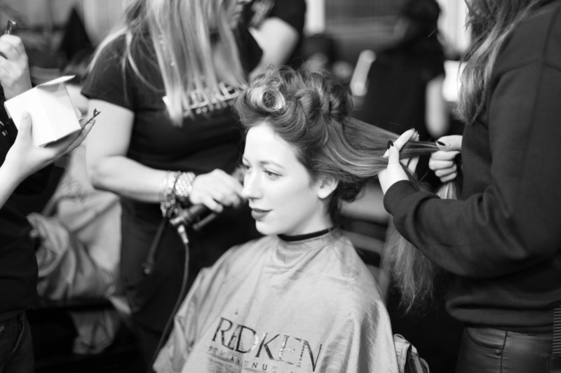 redken backstage at toronto fashion week