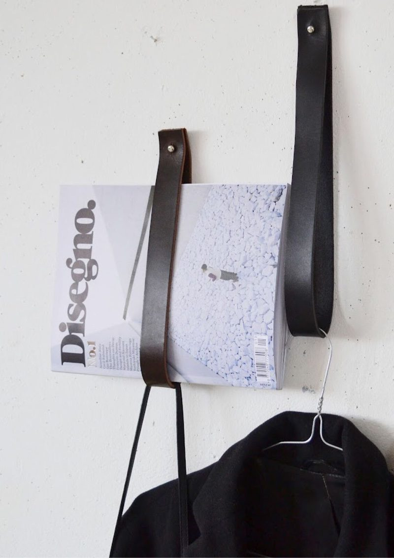 DIY Leather hangers
