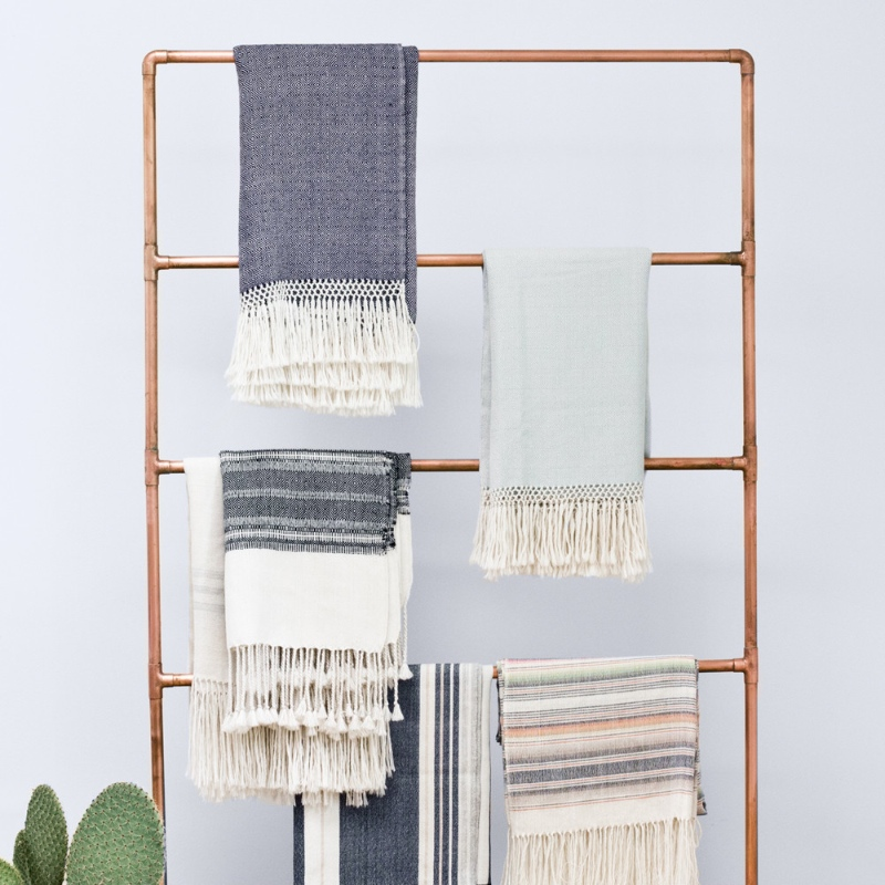 DIY Scarf and Blanket ladder
