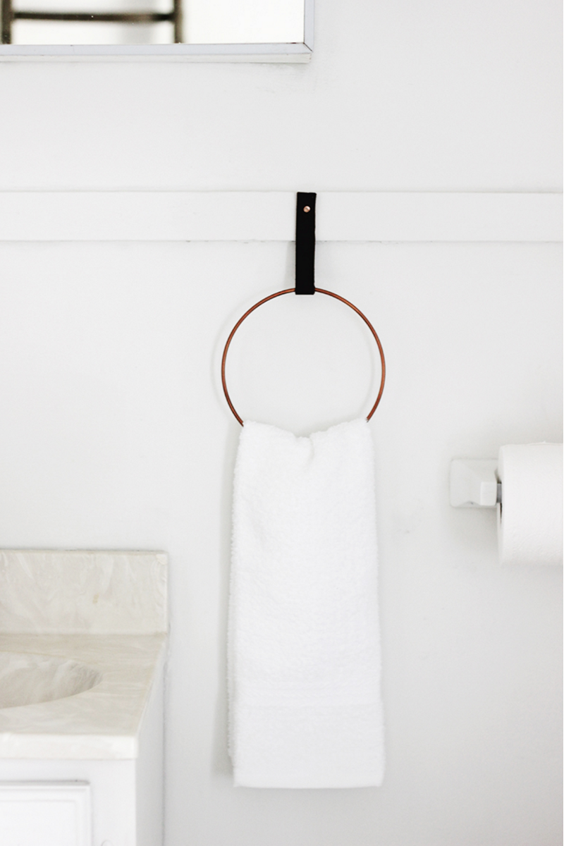 DIY towel ring