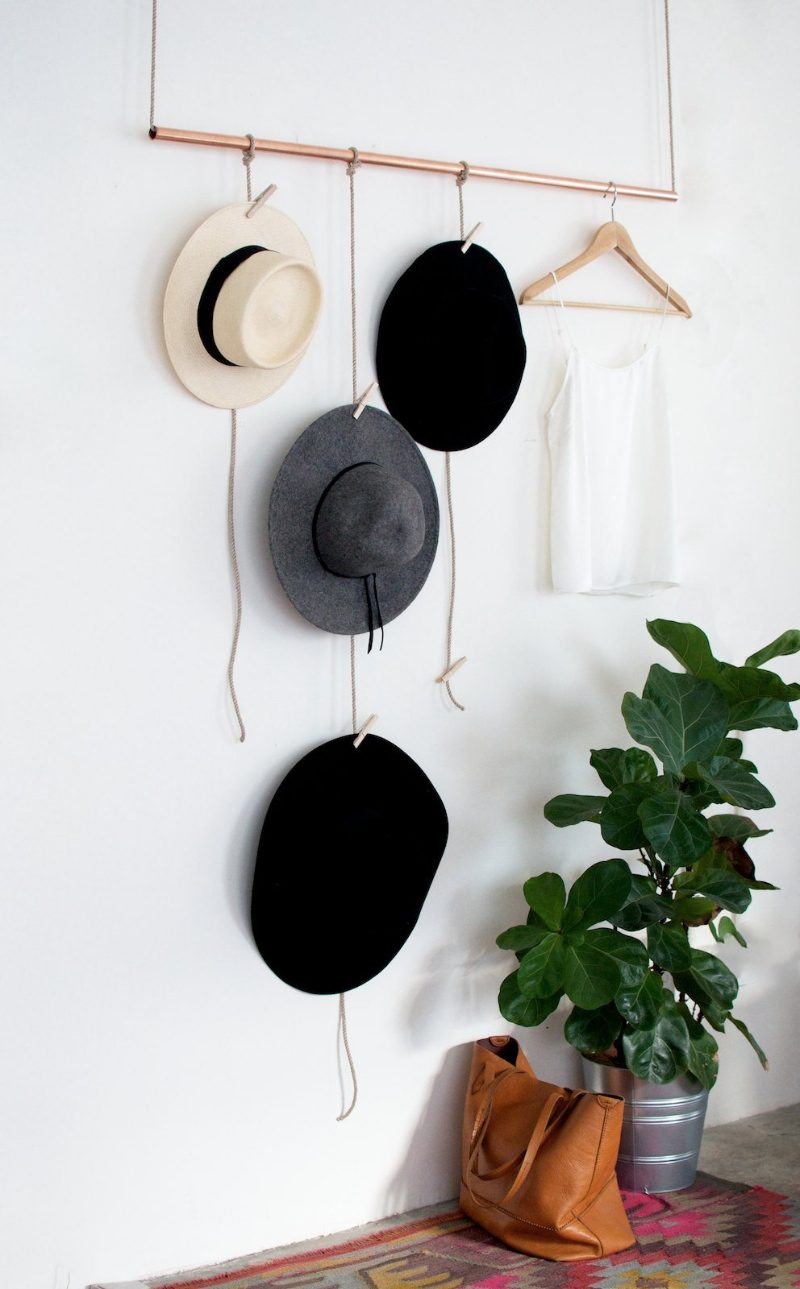 Easy DIY Hanging Hat Rack