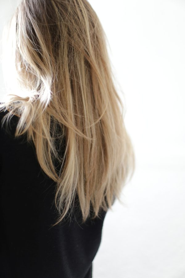 Ombre blond hair