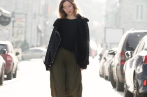 Pleated and oversized